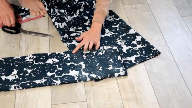 Платье с длинным рукавом без выкройки не хуже, чем из магазина