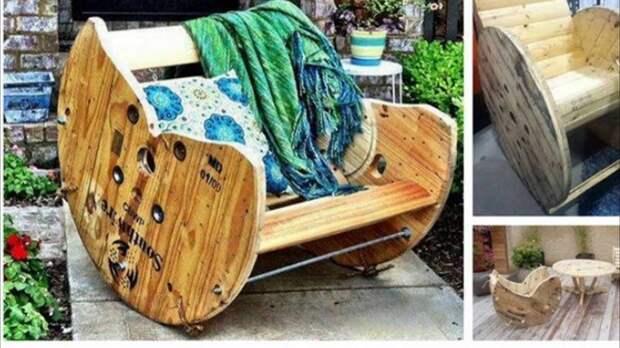Кресла и кресла-качалки Фабрика идей, дизайн, интересное, кабельные барабаны, креатив, умельцы