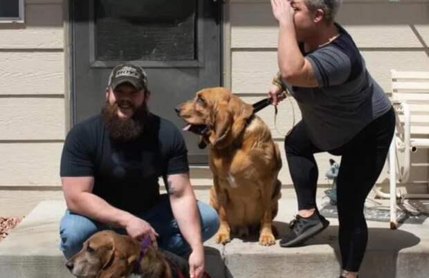У пса из приюта никогда не было своего двора, и тогда хозяева его решили порадовать
