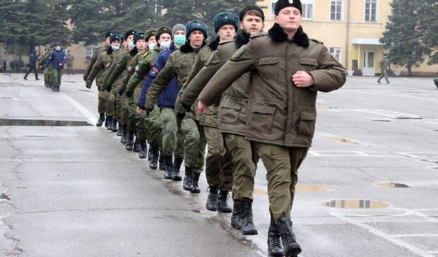 Крепетиции парада Победы приступили казаки вНовочеркасске