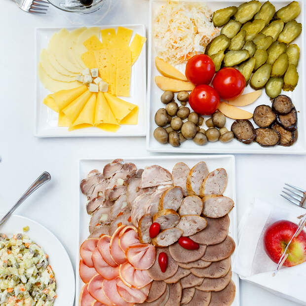 оформление блюд закусок