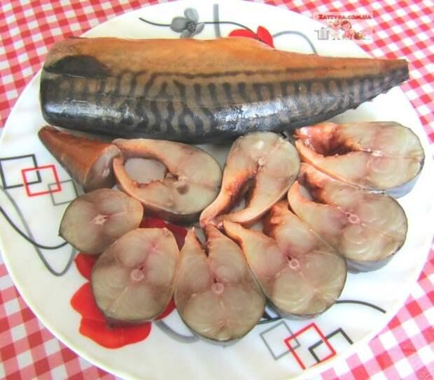 Скумбрия в луковой шелухе и чае (фальшивая копчёная скумбрия) скумбрия в луковой шелухе, скумбрия в чайной заварке, фальшивая копченая скумбрия, блюда из рыбы, видео