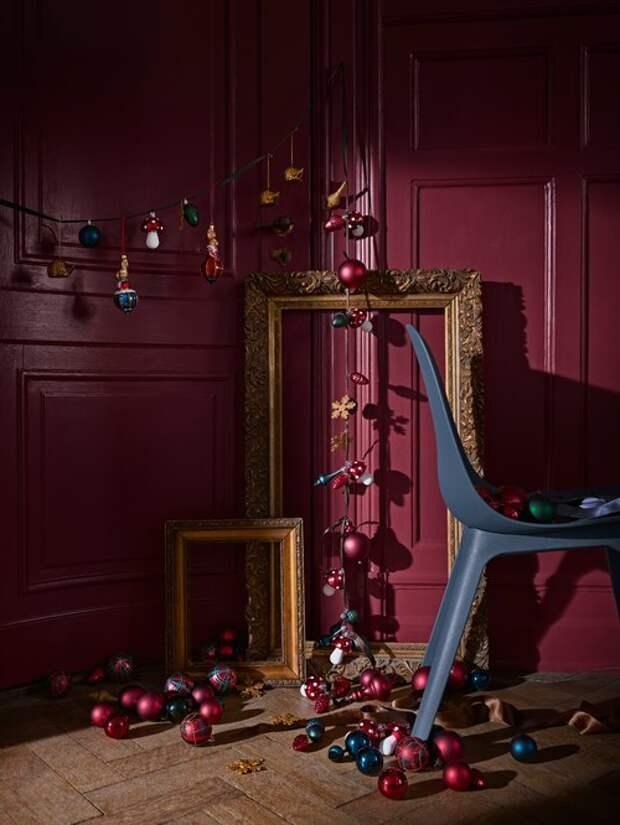 идеи фото, праздничный декор, новогодний декор, ikea, икеа, гирлянда, креатив, ёлочные игрушки, елки
