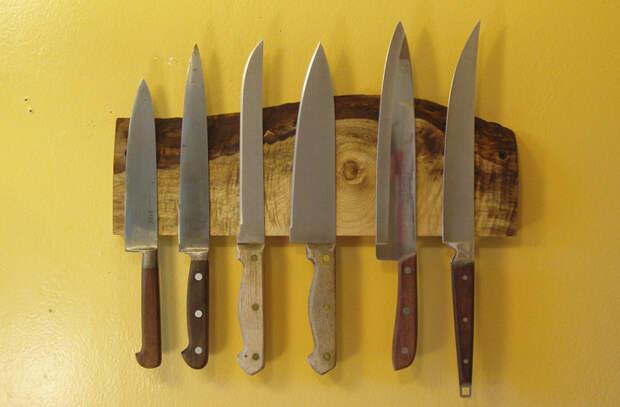 Храним ножи, чтобы они долго не тупились. Вынимаем из общего лотка и кладем по-отдельности