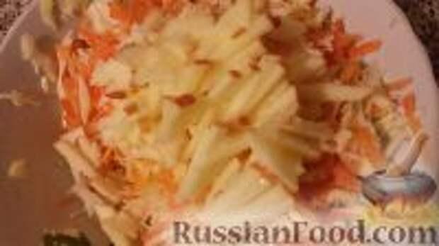 """Фото приготовления рецепта: Салат """"Витаминный"""" - шаг №8"""