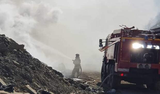 ВоВладивостоке загорелся полигон Холмистая, ситуацию может усугубить ветер