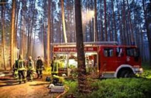 Лесные пожары вокруг Берлина