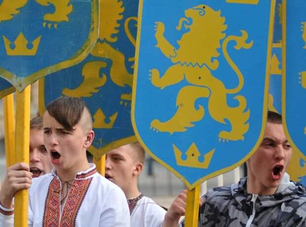 Марш вышиванок в честь дивизии СС