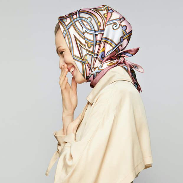 Шелковый платок: самые модные цвета