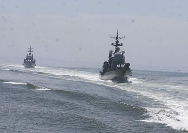 Ракетные катера Тихоокеанского флота в ходе учения отработали нанесение совместного ракетного удара по условному противнику