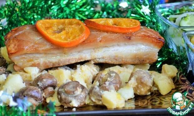 Свинина в мандаринах и горчице