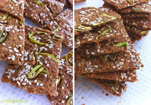 Быстрый полезный рецепт: хлебцы из морковного жмыха
