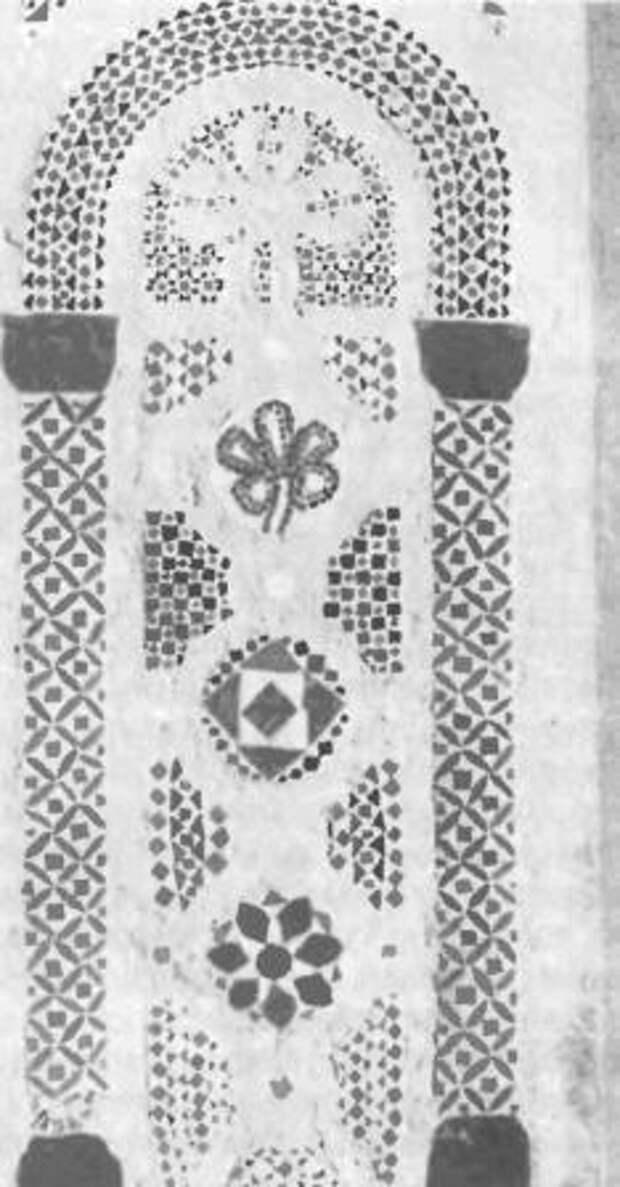 Мозаичное панно собора Святой Софии в Великом Новгороде, XI в.