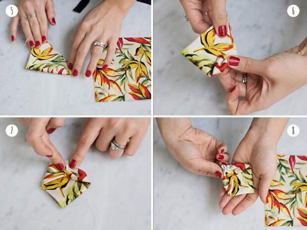 Летний  галстук бабочка (DIY)