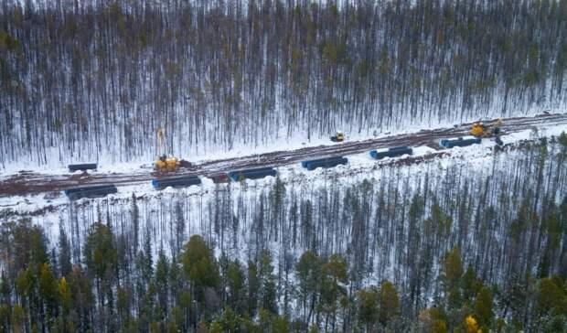 Почти 100км газопровода «Сила Сибири» построил «Газпром»