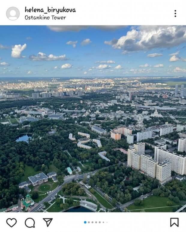Фото дня: вид на город с высоты Останкинской башни