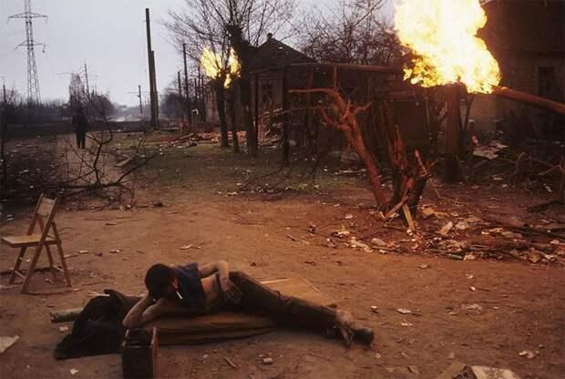 Грозный, 12 января 1995 г. Начало первой чеченской войны 90-е годы, 90-е годы. жизнь, СССР, жизнь в 90-е, ностальгия, старые снимки, фотографии россии, фоторепортаж