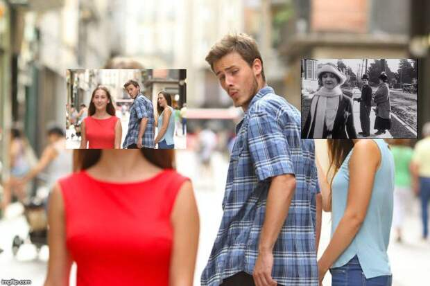 Мем «Неверный парень» появился 96 лет назад, и в нем есть Чарли Чаплин!