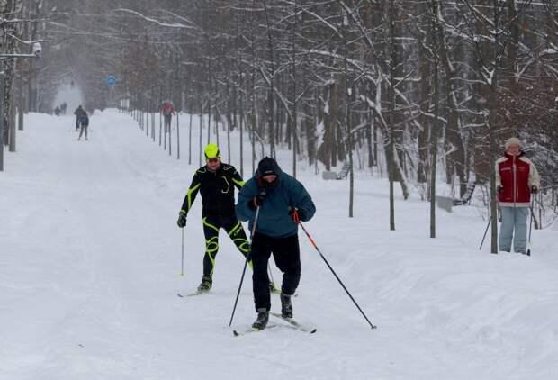 Лыжные трассы в парках СВАО претендуют на звание лучших в Москве