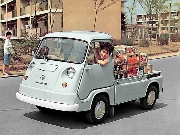 Первое поколение Sambar, 1961 jdm, subari, subaru sambar, авто, автомобили, кей-кар, япония