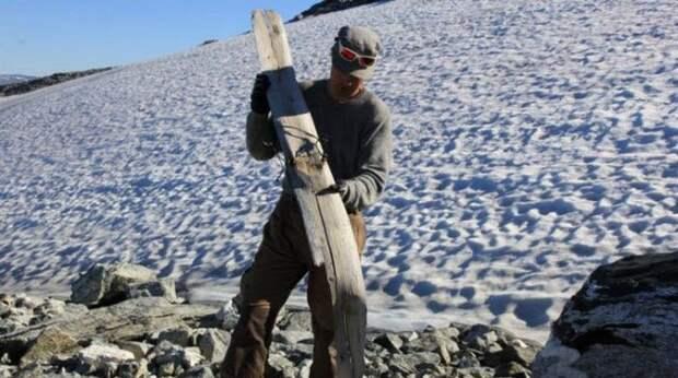 Лыжи времён викингов.