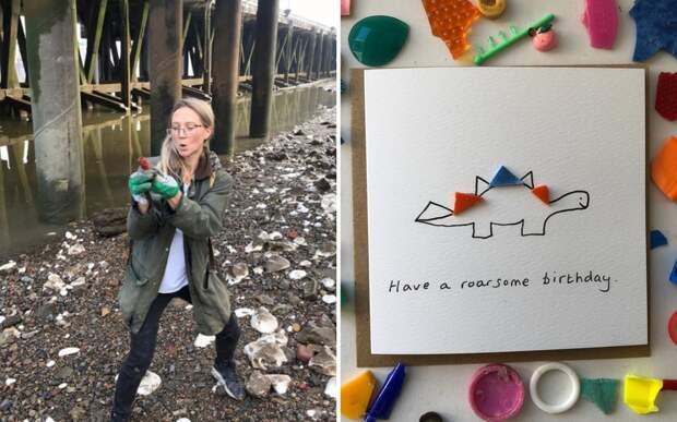 Британка превращает пластик в милые открытки, заботясь об окружающей среде