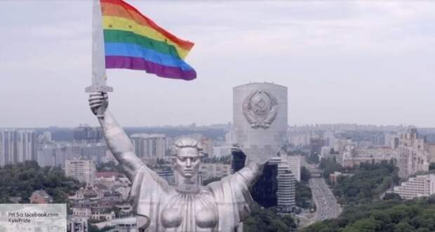 Скориков рассказал, как отреагирует Россия на флаг ЛГБТ на монументе «Родина-мать» в Киеве