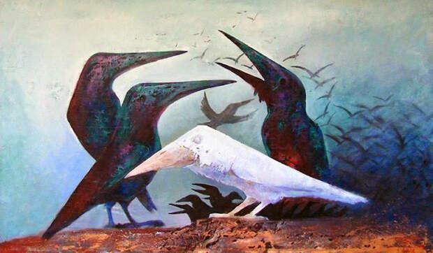 Чужой среди своих: мудрая притча о белой вороне