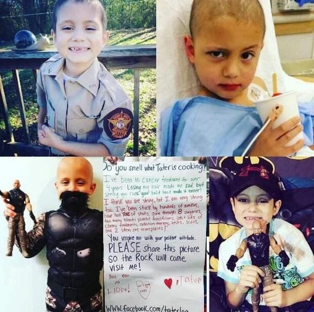 Дуэйн 'Скала' Джонсон воплотил в жизнь мечту 7-летнего мальчика больного раком доброта, люди