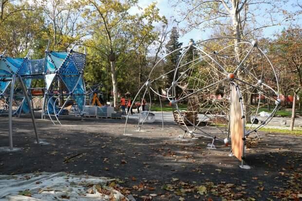 У Развожаева хвастнули будущей сдачей отремонтированного парка в срок