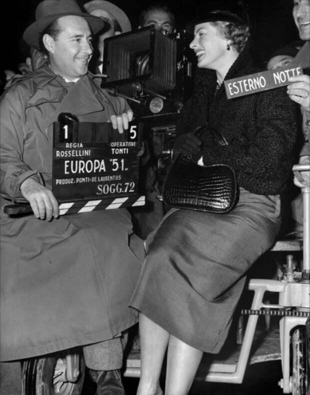 Ингрид Бергман и Роберто Росселлини. Фото / Ingrid Bergman & Roberto Rossellini. Photo