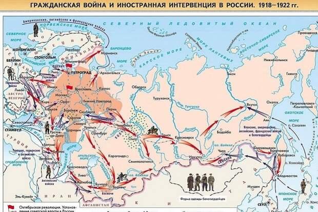 Белые признали независимость Прибалтики, Польши и Финляндии