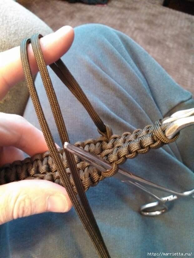 Как сплести ремень для брюк в технике макраме. Мастер-класс (28) (525x700, 266Kb)