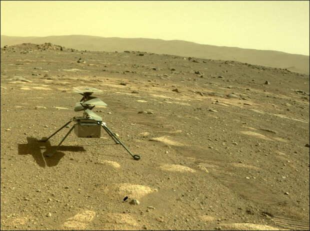 В NASA сообщили, что вертолет Ingenuity успешно пережил марсианскую ночь