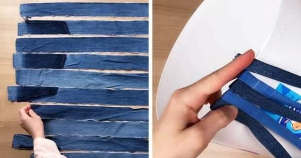 Не выбрасывайте пластиковое ведро и старые джинсы! Очень крутая идея