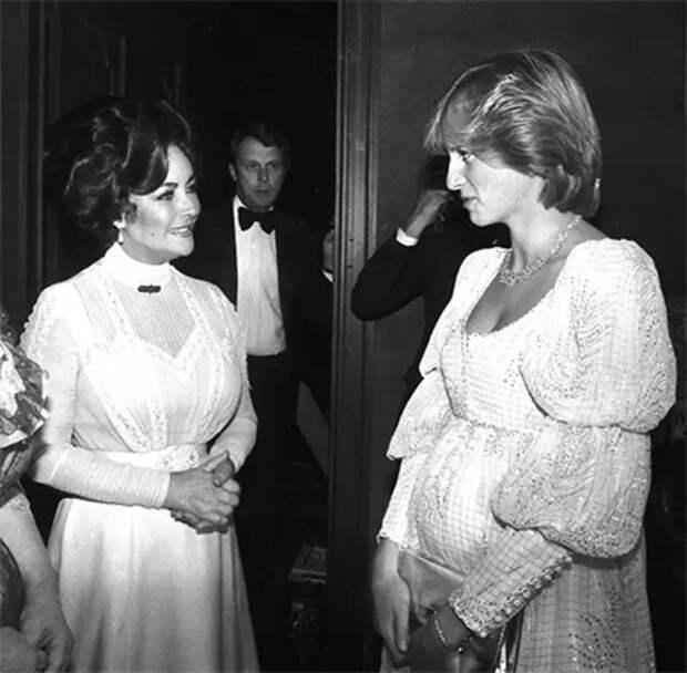 Элизабет Тейлор и принцесса Диана