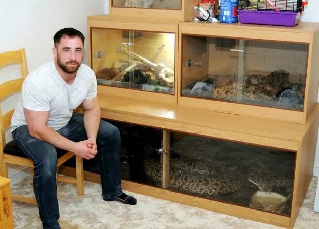 Игры сосмертью: убританца дома живет огромный питон, который может проглотить оленя занесколько минут
