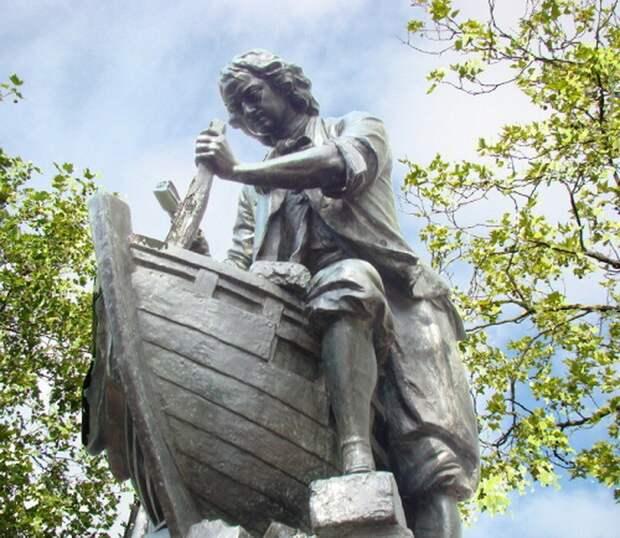 2. Царь – корабельный плотник: памятник российскому императору в Заандаме (Нидерланды) памятники, ссср