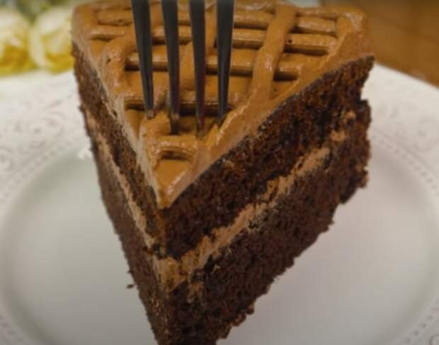 Быстрый шоколадный торт без пропитки
