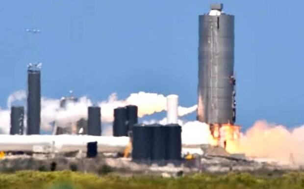 Пятый прототип Starship успешно «выдержал» полный прожиг