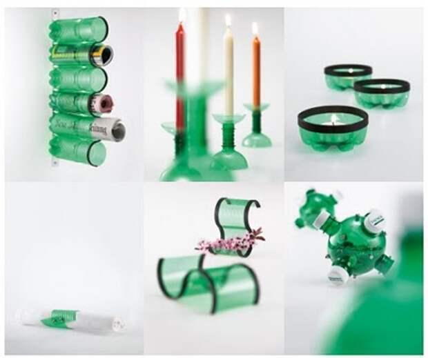 посвешники из пластиковых бутылок