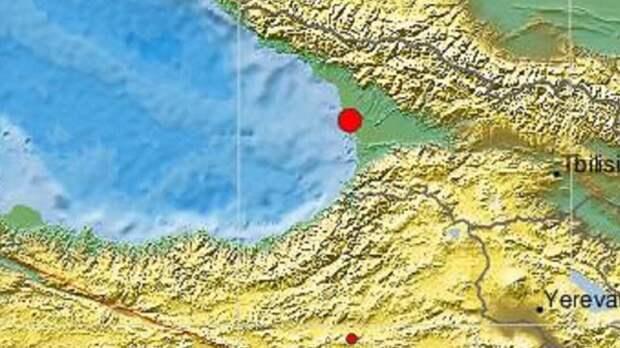 Возле Новороссийска в Черном море произошло землетрясение