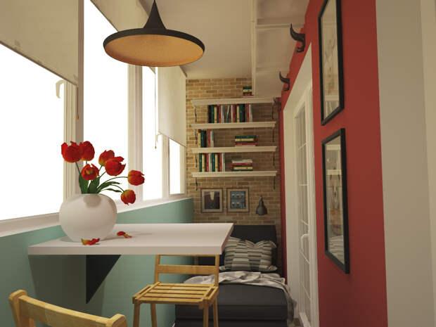 Современный дизайн небольшой квартиры в Москве