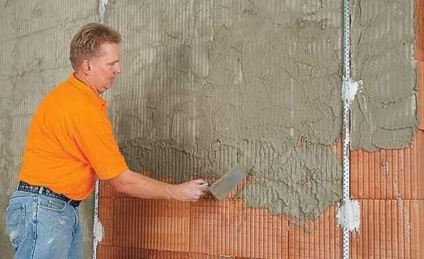 Как это делать правильно: штукатурка кирпичной стены своими руками