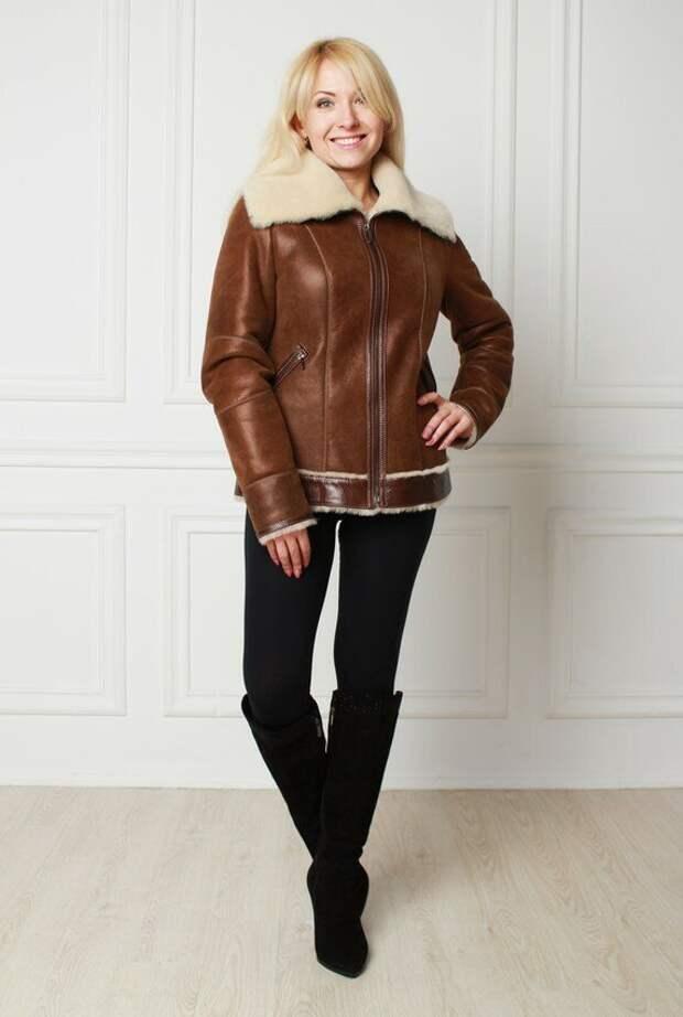 Носили бы такую дубленку? /Фото: merlin-leather.com