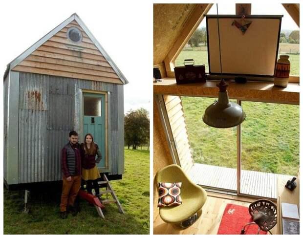 Кристиан Монтес и Кира Пауэлл построили двухэтажный дом из строительного мусора.   Фото: 4tololo.ru.