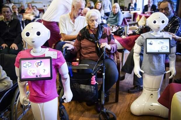 Роботы в доме престарелых