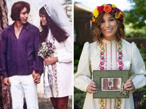 Невесты надели платья своих мам и бабушек и подарили нарядам из прошлого новую жизнь
