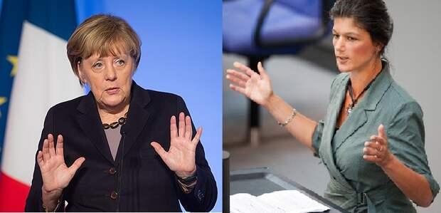 """Сара Вагенкнехт круто ответила провокатору Меркель за российские """"ужасные"""" действия"""