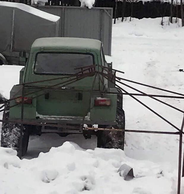 "Вездеход на базе ""Нивы"" с двигателем от ""Оки"" и колесами от Урала"